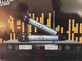 promo microphone wireless uhf new model koper mewah
