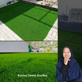 Rumput sintetis taman rumah