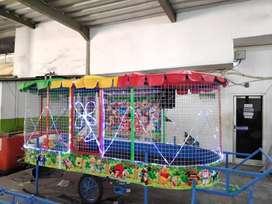wahana kolam mandi bola gerobak kereta odong TERBARU playground 11
