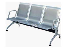 3 Seater Waiting Silver Chair 32 kg