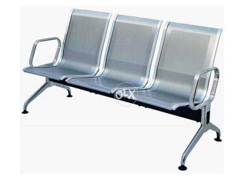 3 Seater Waiting Silver Chair 32 kg 0
