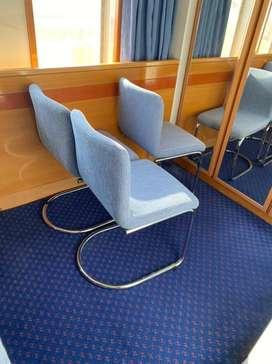 Chair blue color