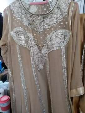 Eid collection Stitched 4 pices Embroded dress