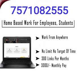 People interested to work from home can work part-timepart-time.