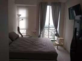 Disewakan apt Akasa Studio, full furnished, rooftop garden u nongkrong