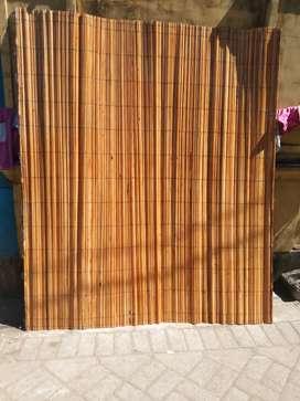 Tirai bambu dan tikar rotan,tirai bambu