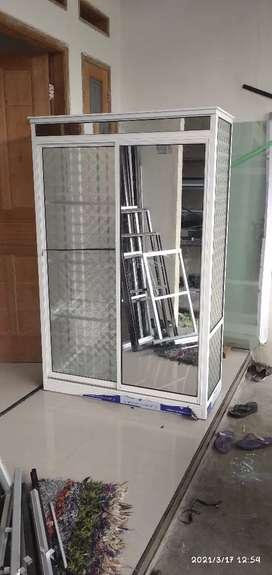 Jendela pintu aluminium & kaca
