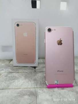 IPHONE 7 Warna ROSEGOLD 32Gb LIKE NEW INTER ORI FULLSET