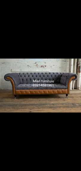 12 Designs of chesterfield Six seater Sofa set