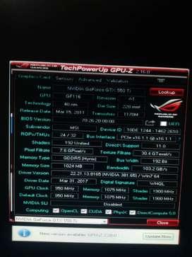 MSI GTX 550 Ti  Cylone 1gb DDR5 OC edition