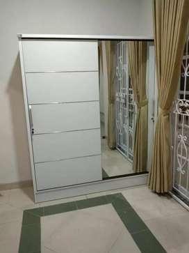Lemari pintu geser atau slid, uk 150*50*200, po 3-5 hr