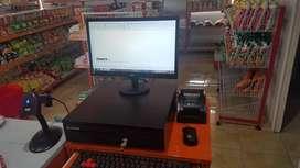 komputer kasir, printer, laci uang, program, scanner + free training