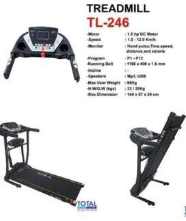 Treadmill elektrik 2 fungsi TL 624