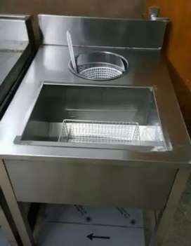 Fastfood breading table steel made
