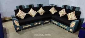 L shape corner sofa set add 123