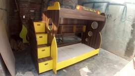 Simple double bunk bed for kids