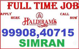 haldiram Job Full Time Apply Helper Store keeper Supervisor call me ca