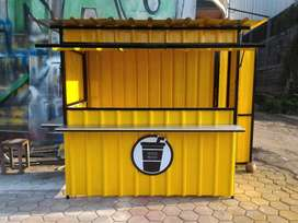 booth gerobak kontainer