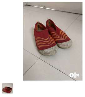 Kids red color shoes. Size 1