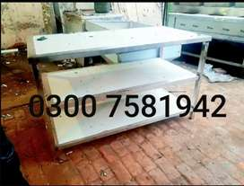 Working table 2×4 we deal pizza oven deep fryer all restaurant items