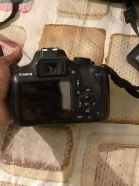 H*Canon 1300D with 2 lenses (charger,Batery,memory card,bag)