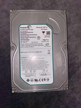 Seagate 160 GB hard disk drive.