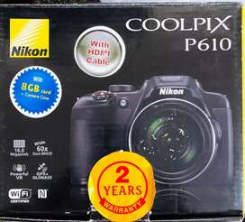 Nikon Cool Pix P610 Digital Camera with 16.0MP and 60x Optical Zoom