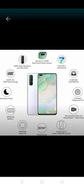 Oppo Reno 3pro 28days old with bill charger all accessories