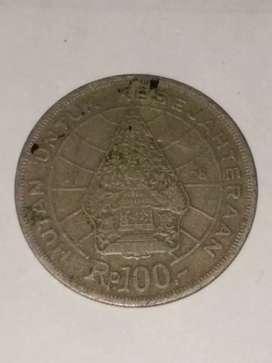 019= Uang Koin indonesia 100 Rupiah Langka Tahun 1978