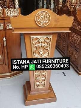 Mimbar kayu jati masjid musholla