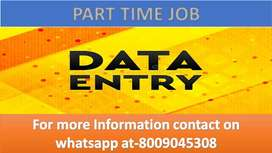 Data entry work Part time job of typing work & ad posting home based w
