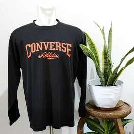 Share:  0 Crewneck Converse Hitam Sweater Baju Lengan Panjang
