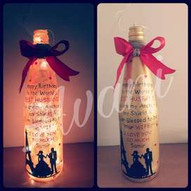 Gifting Special Hand Painted Custom Glowing Bottles and Explosion Box