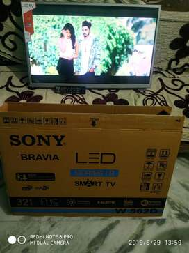 "£1yr Replacement warranty 32""smart full Hd led Tv New seal pack"