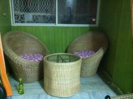 Bamboo chairs and table