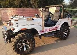White modified open jeep