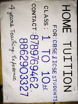 Home tution available for CBSE & ICSE STUDENTS IN GARDANIBAGH
