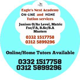 Online /Home Tution Services Eagle's Nest academy