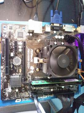 Motherboard fm2 prosesor a4 is a4 6300 ram 4gb