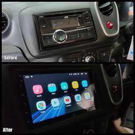 Before After- Headunit Android Orca Mobilio 7Inch RAM 2GB Memory 32GB