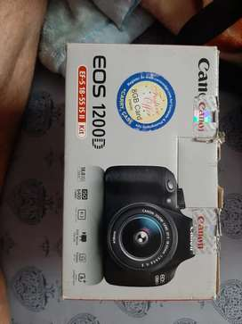 CANON EOS 1200D with lens &  bag & 16GB & 8GB (new condition less used