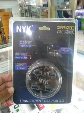 NYK USB HUB V3.0 4 port transparant
