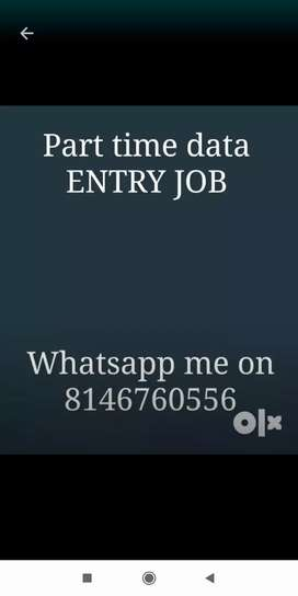 Call now for data entry job for limited vacancy