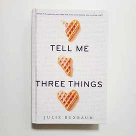 Tell Me Three Things Hardcover English - Preloved