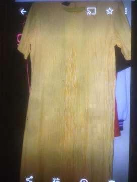 Baju hamil kuning dress XL