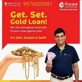 Fincare bank gold loan (per gram rate 3700)