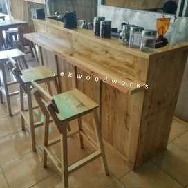Booth cafe jati belanda / pinus / palet