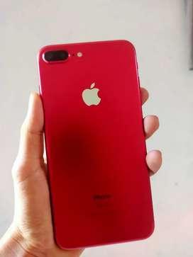 Iphone 7 plus warna merah 128gb  No minus