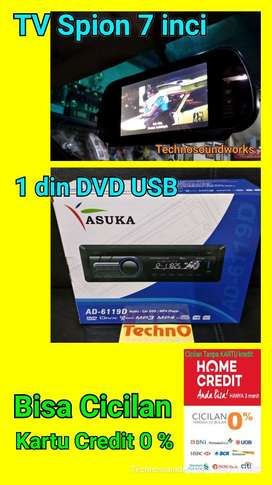 Paket TV spion Mobil 7 inci + 1 din tape DVD USB sound audio ga double