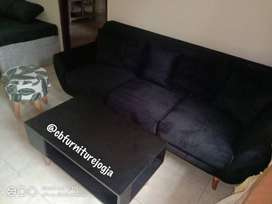 sofa tamu 3 seat, stool , dan Meja